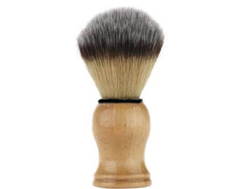 Pure Bristle Shaving Brush With Natural Wood Handle