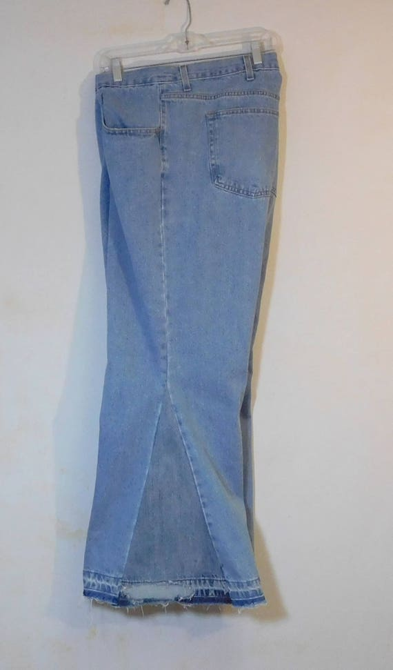 Bottom Flare Plus Mens Super SALE Bell Size 70s Trashed Waist High Jeans Bellbottom Boho Hippie 48 Waisted Clothes Upcycled Clothing Patched qCC5nwF4