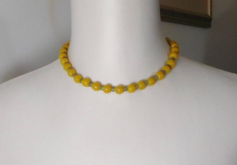 Stone Necklace Sundance Style Jewelry Green Heishi Beads Hippie Earrings Bohemian Bracelet OOAK Gemstone Beads Yellow Topaz Necklace