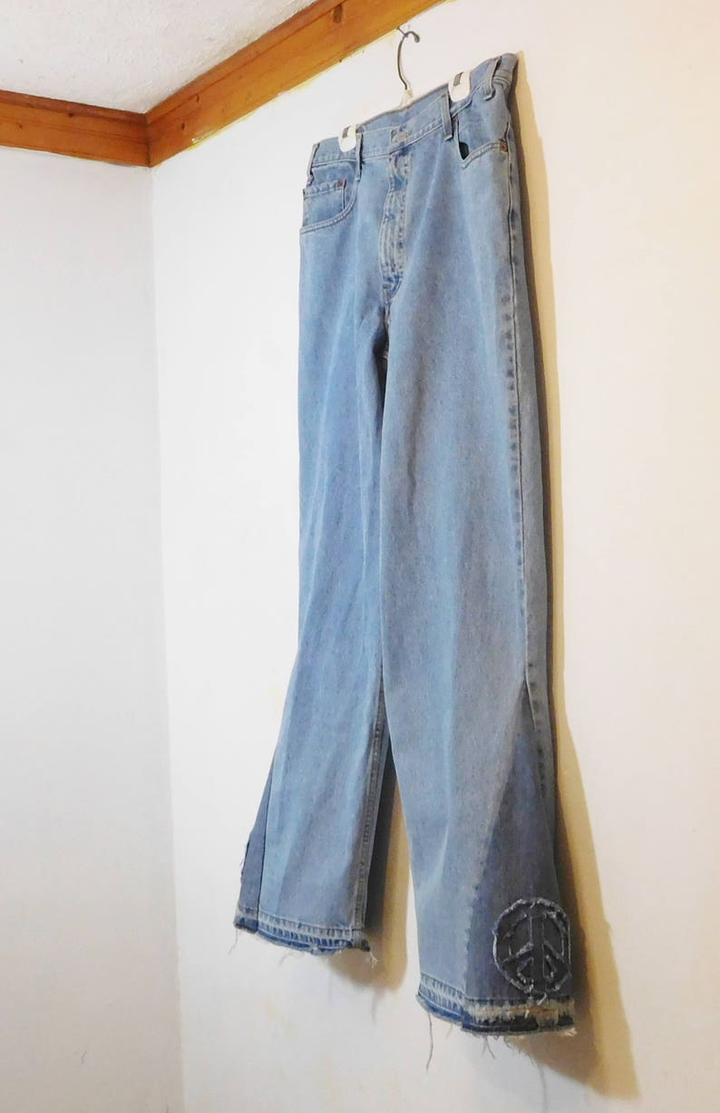 Bell 38x36 Hippie Bottom Patch Levi Tall Jeans Sign Peace Mens Etsy xSO5IqZww