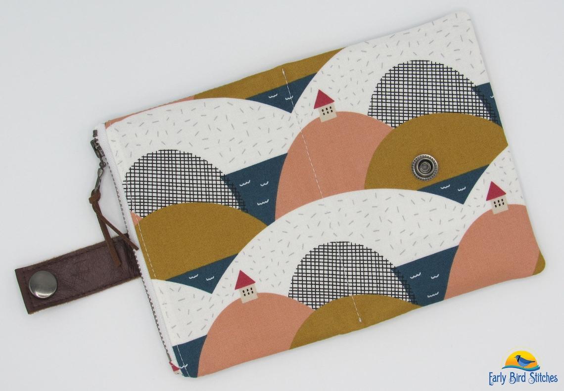 figo fabrics landscape essex wallet with zipper pocket and