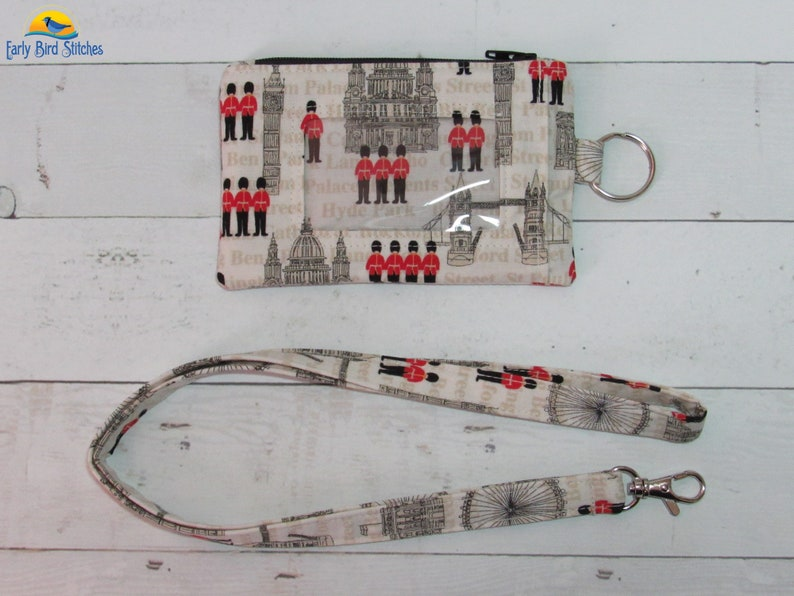 London Keychain ID Wallet & Lanyard / Neck Strap SET Room for image 0