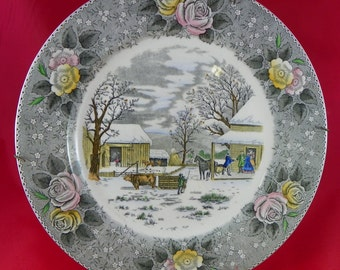 Beautiful Vintage Collectors Plate. Fully Marked.
