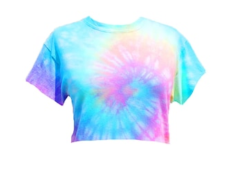 30ee280436faa Tie dye crop top   Etsy