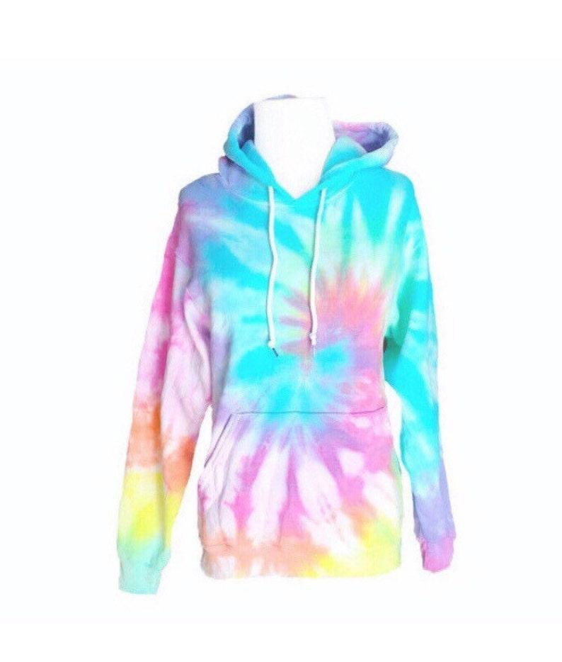 6f037b27d43860 Pastel Tie Dye Hoodie Pastel Sweatshirt Hooded Sweatshirt