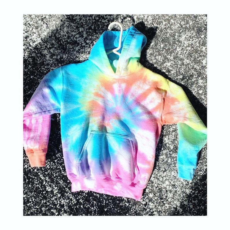 fb0328c2b0d2c Kids Tie Dye hooded sweatshirt - Pastel tie dye - hipster kid - mommy and me