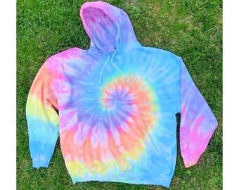 Tie dye hoodie - Pastel Tie Dye Hoodie - Pastel Sweatshirt - Hooded Sweatshirt - Rainbow Shirt - Pastel Tiedye