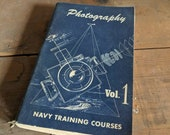 Photography Navy Training Course Book Military Armed Forces Veteran