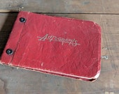 1955 Autograph Highschool Book Leather Bound Signatures