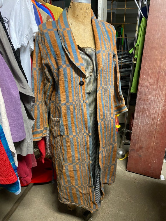 Vintage 1940s Beacon Blanket Robe Duster Jacket Co