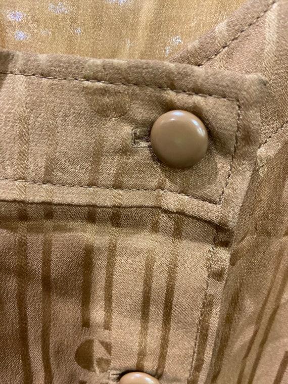 1960s-70s Givenchy Gold Slik Dress Vintage Nouvel… - image 5