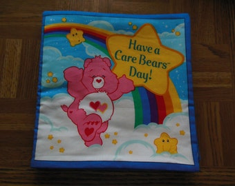Children's Cloth Book  Have A Care Bears Day