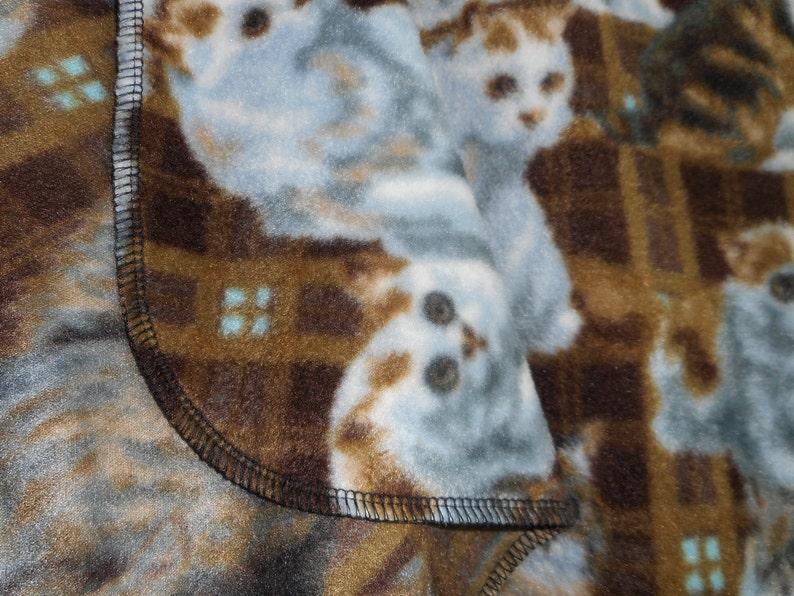 KittensCats Plaid Fleece Throw 60 X 60