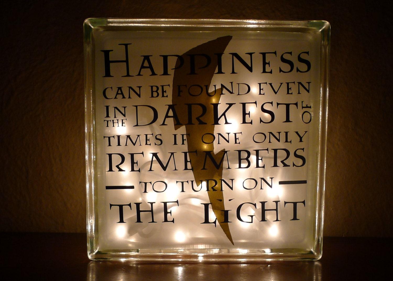 Harry Potter Albus Dumbledore Happiness Quote Nightlight Etsy
