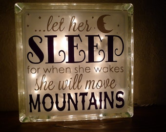 Let Her Sleep When She Wakes She Will Move Mountains Night Light