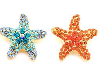 85f9aa4185 Starfish 23 mm fits 18 mm Snap Jewelry