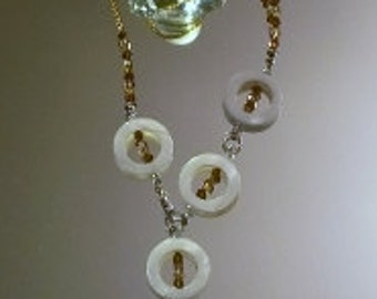 Mother of Pearl Adjustable Necklace