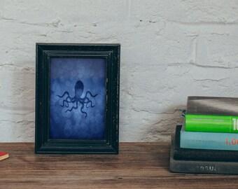 Octopus Art Print 4 X 6, 5 X 7, Octopus Decor, Sea Life Prints, Sea Life Art, Gray Octopus, Wall Art, Bathroom Decor