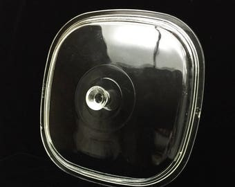 CORNING Glass Replacement Casserole Lid P-10-C-1 Vintage Pyrex Kitchen Cooking Baking Roasting Cookware Cover With Knob