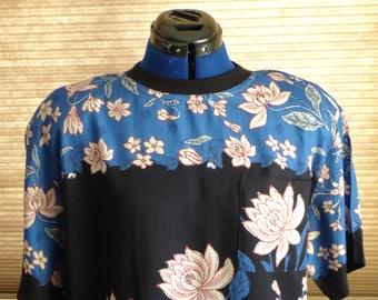 NOS 90s Carol Little lotus shirt