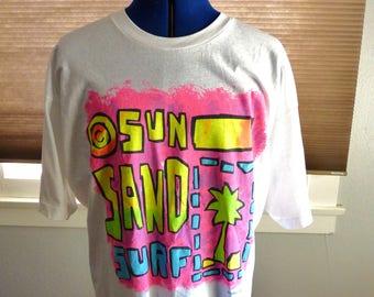 80s 90s Sun Sand Surf t-shirt
