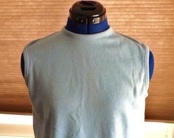 50s 60s Talbott blue sleeveless sweater