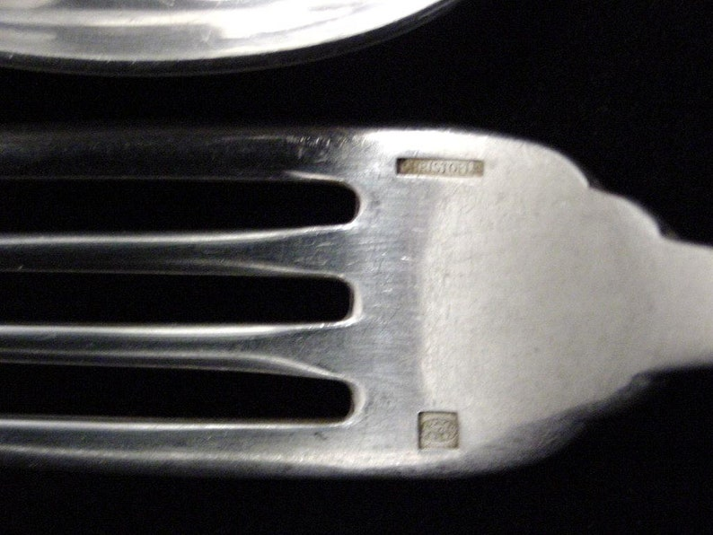 Japonais pattern 16 forks and spoons Christofle