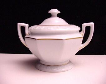 antique Rosenthal sugar bowl, pattern Maria Weiss (Maria White)