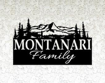 Personalized Mountain Name Metal Sign - Custom metal Name sign - Mountain sign - Family sign - Cabin decor - Lodge sign - Metal Mountain