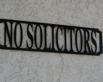 No Solicitors Sign - No Solicitors Metal Sign