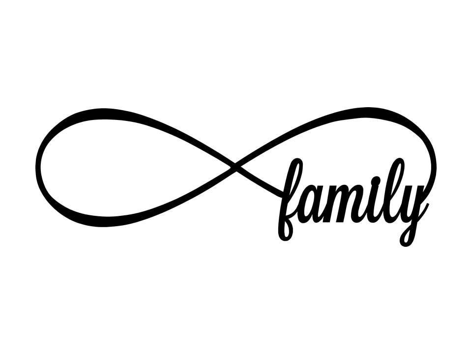 d0517e06e25 Personalized infinity sign custom infinity sign Family | Etsy