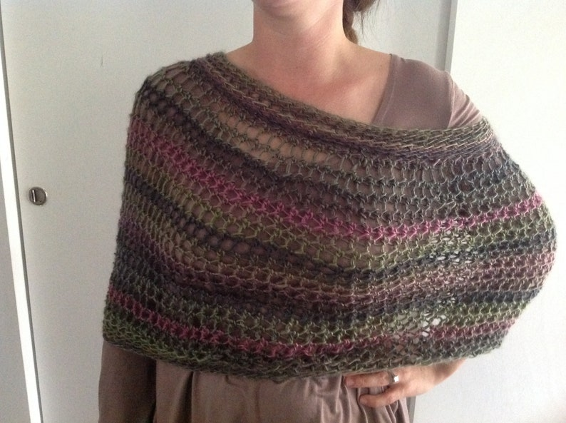 Caplet poncho crochet