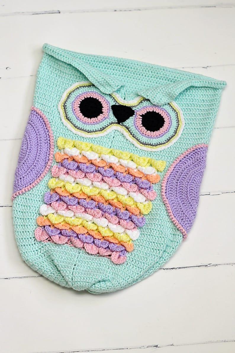 Baby Owl Cocoon Crochet Crochet Owl Cocoon 3-6 month size ...