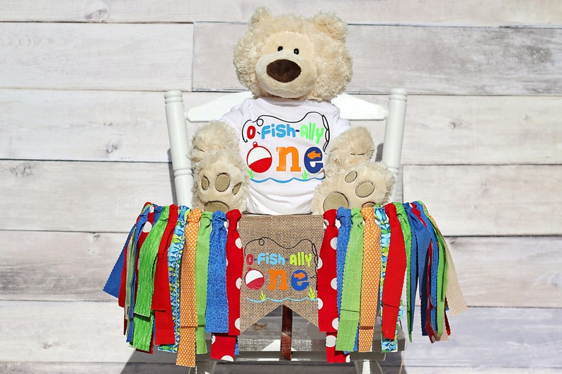 O-Fishally-One High Chair Banner and Onesie 1st Birthday image 0