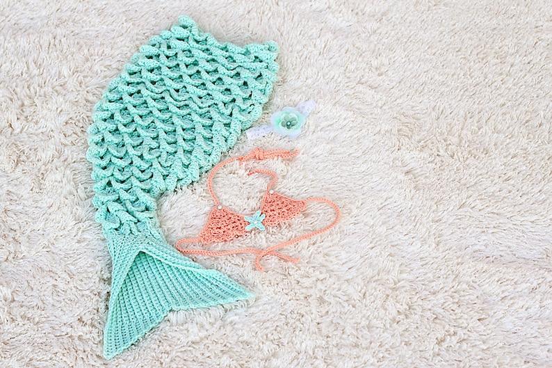 Mermaid Tail Blanket Baby Crochet Mermaid Tail Blanket Etsy