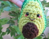 Avocado Keychain Charm, Toy Avocado,  Avocuddle Keyring, Plush Avocado, Stressball for kids