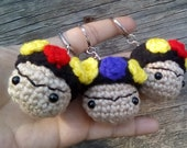Mini Frida Kahlo Charm, Frida Khalo Bag Charm, Frida Lover Keychain