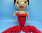 Ready to ship. La Sirena Doll, Mermaid Doll, Loteria Toy, Crocheted Mermaid, Plush Mermaid