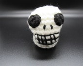 Skull Desk Toy, Dia De Los Muertos Skull, Day of the Dead Skull, Plush Skull Toy
