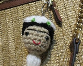 Frida Kahlo Keychain, Frida Kahlo Bag Charm, Viva Frida,