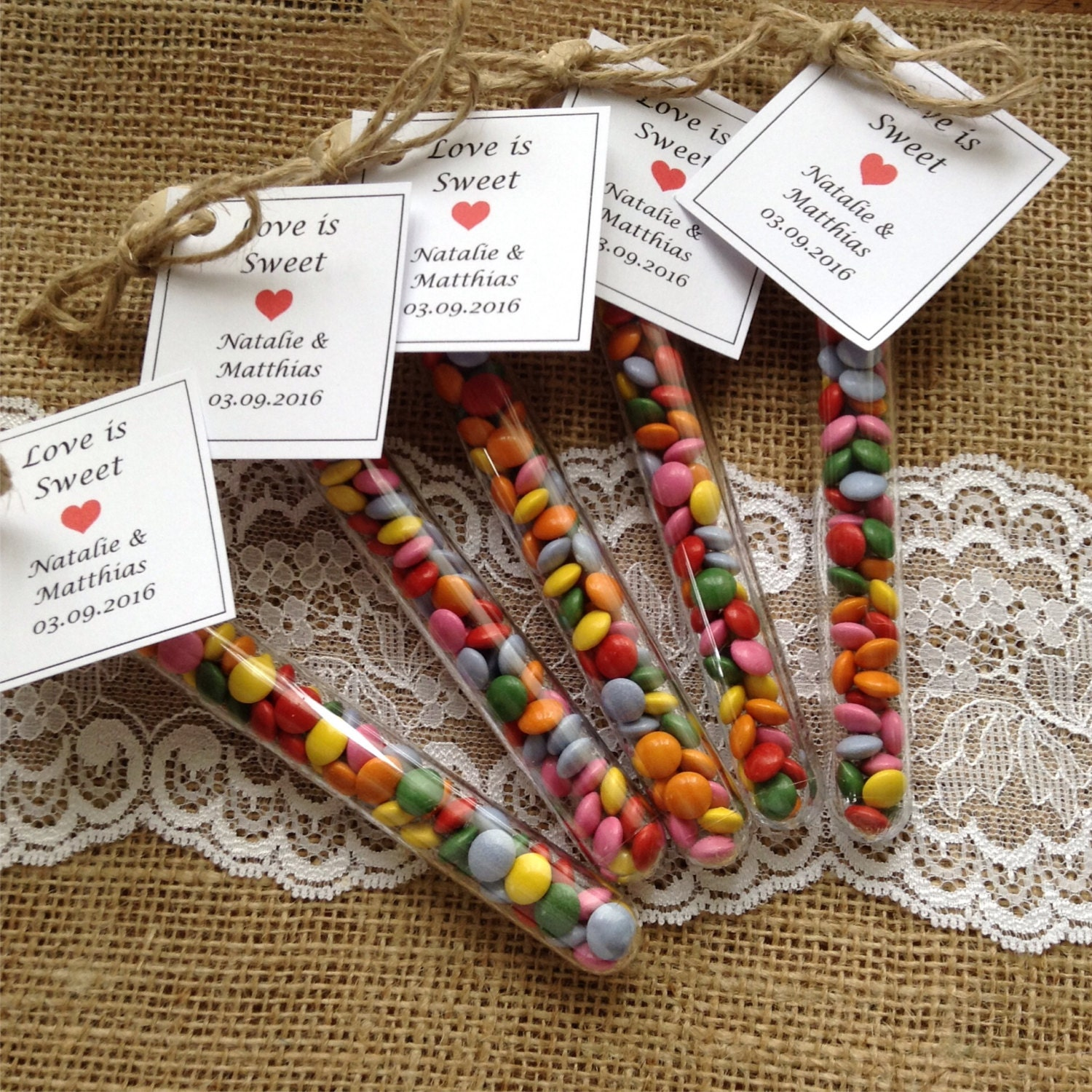 Childrens Wedding Gifts: Test Tube Favours Love Is Sweet Wedding Favors Party