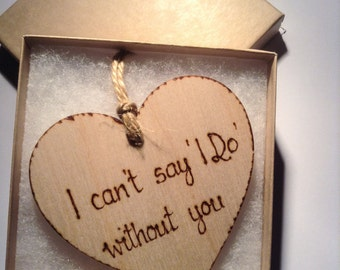 Bridesmaid Proposal Invitation, I can't say I do without you Bridesmaid invite Maid of honour invite,