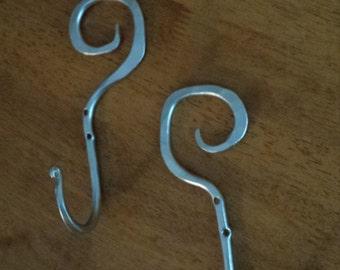 Hand forged iron hooks