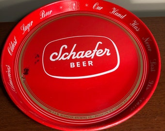 """New Schaefer Beer Tray 12/"""" and Tray Mat"""