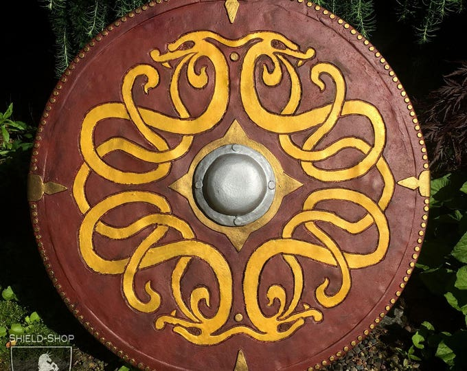 "Shield for Medieval Combat // DOWN PAYMENT on Custom Painted ""Wood"" or ""Leather"" Shield // Belegarth, Dagorhir, Amtgard"