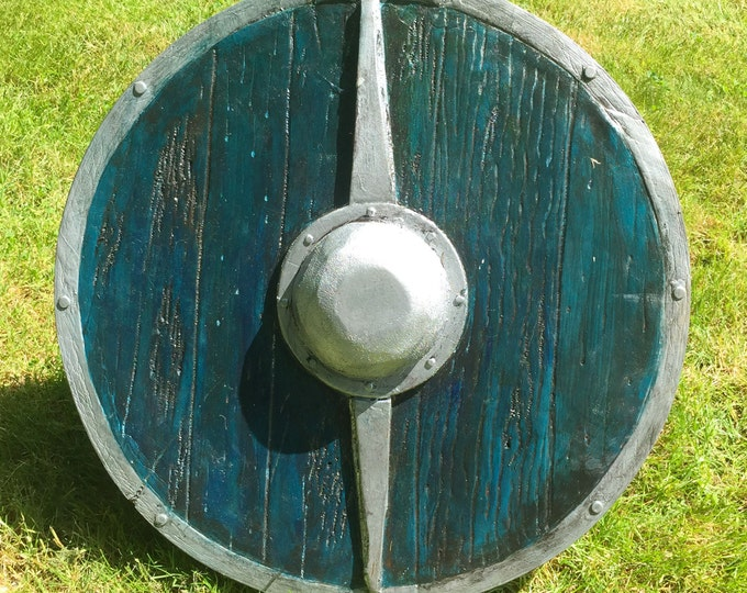 Norse Wood Round Shield // Plastidipped for Full-Contact // Belegarth, Amtgard, and Dagorhir