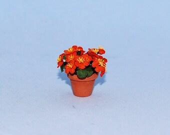 1 inch scale dollhouse miniature-Nasturtium Plant