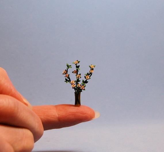 Dollhouse miniature DIY laser cut 1//4 scale Amaryllis flower