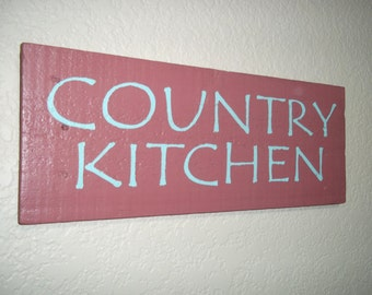 Reclaimed Handpainted Wood Sign - Country Kitchen