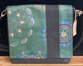 One of a kind, Hand Painted, Messenger style, Crossbody Bag
